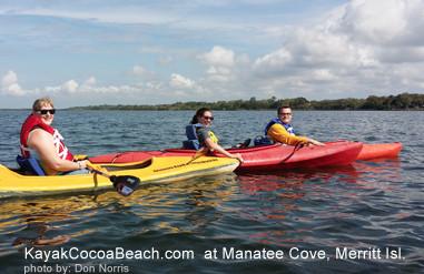 kayak manatee cove merritt island