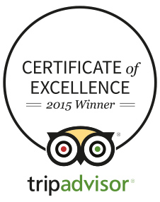 Trip Advisor Certificate of Excellence 2015 Kayaking