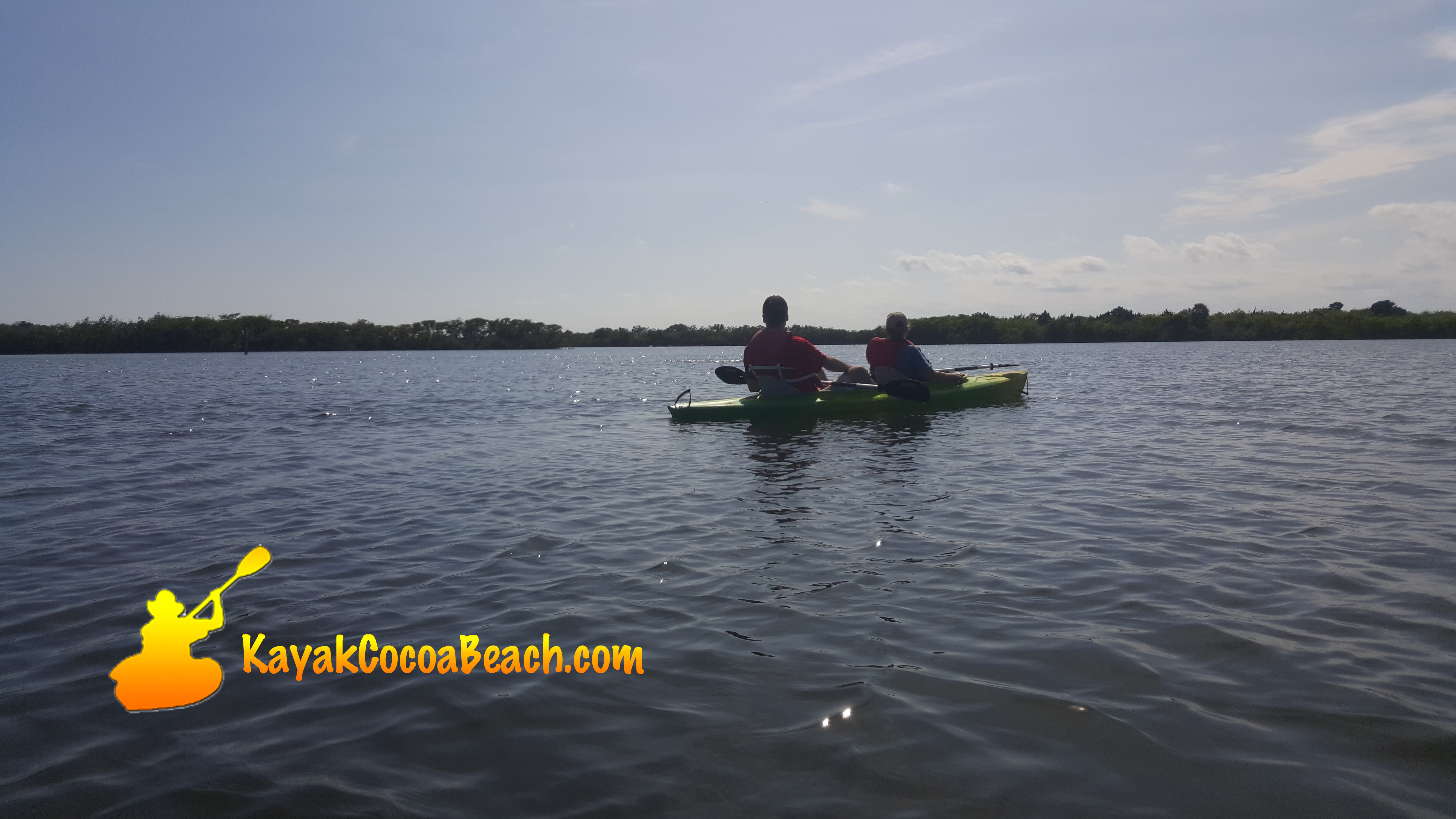 kayak with Rockets Cocoa Beach