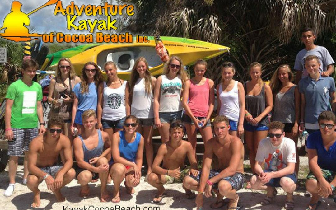 Student and large group kayak tours in Cocoa Beach