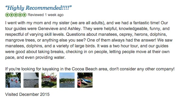 HighlyRecommendedKayakCocoaBeach