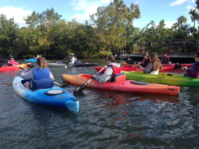 kayaking in cocoa beach