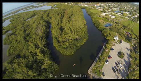 Aerial of Ramp Road Park, Cocoa Beach