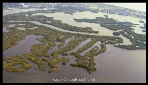 Aerial view of Cocoa Beach's Thousand Islands