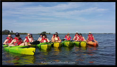 large group kayak tours cocoa beach