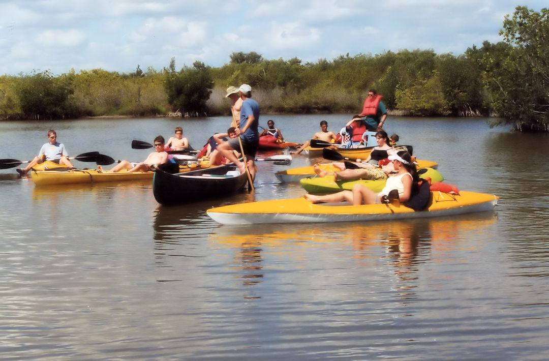 Kayaking Tour Group In Banana River