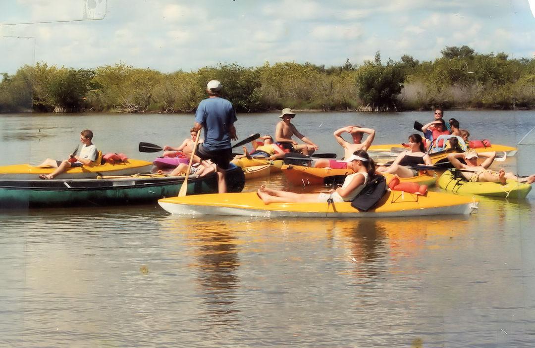 Kayaking Tour Group Near Cocoa Beach Florida