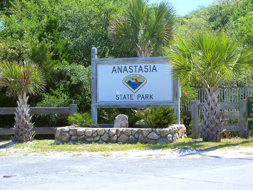 Anastasia State Park Entrance