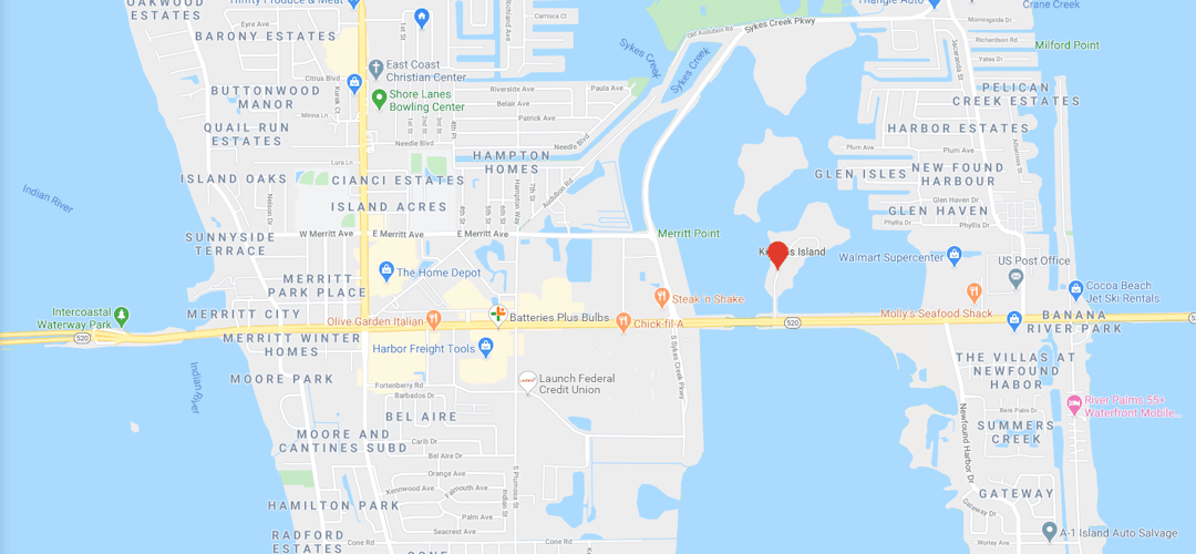 Kiwanis Island Park Location Map
