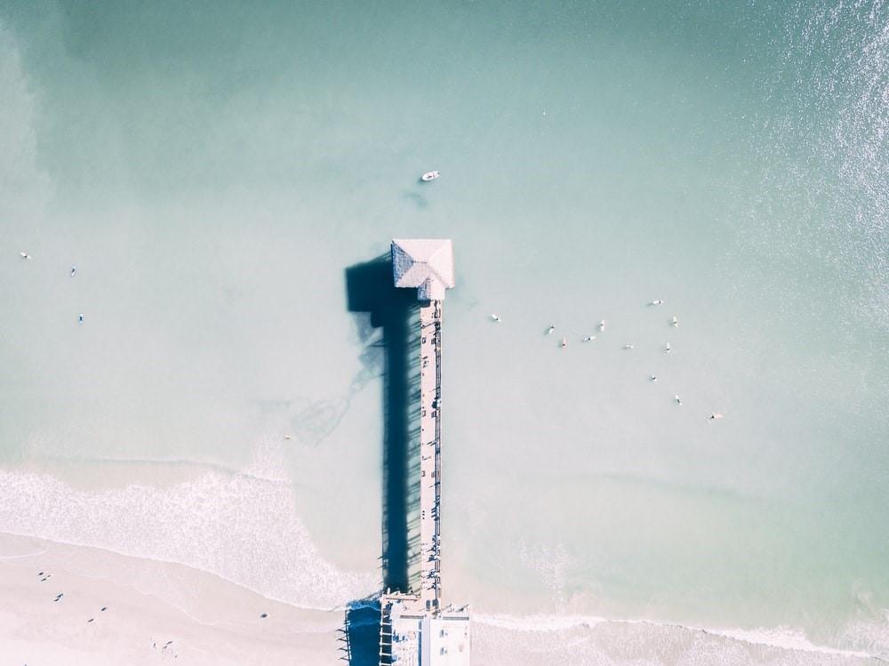beachgoers relaxing on Cocoa Beach