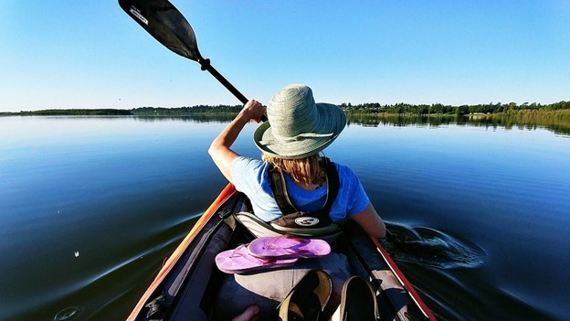 beginner kayaking in Cocoa Beach