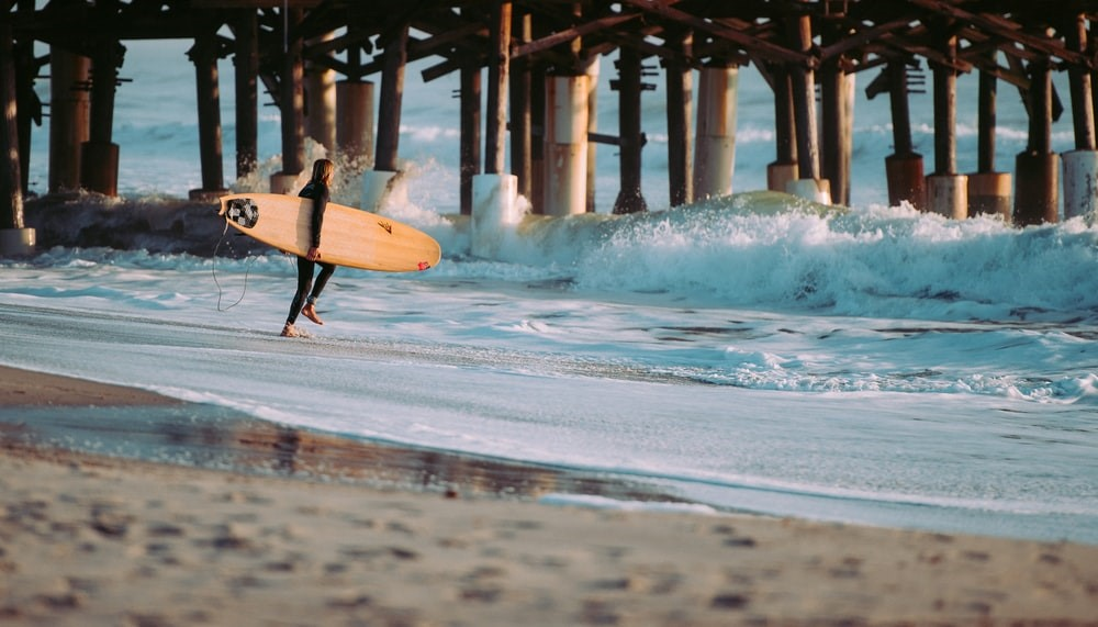 a person surfing at Cocoa Beach