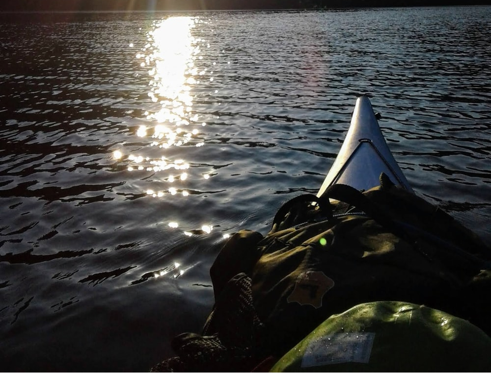 Kayaking during golden hour