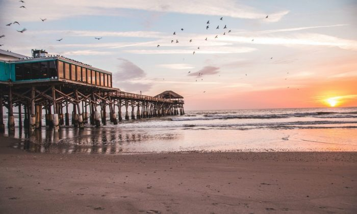 Cocoa Beach during sunset
