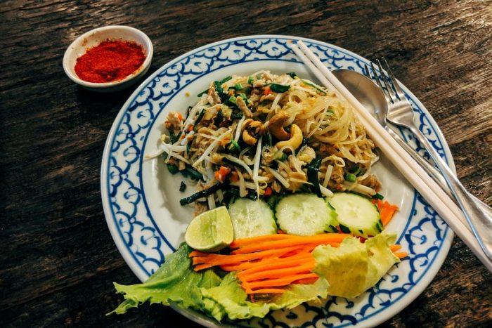 A plate of pad Thai at the Cocoa Beach restaurant.